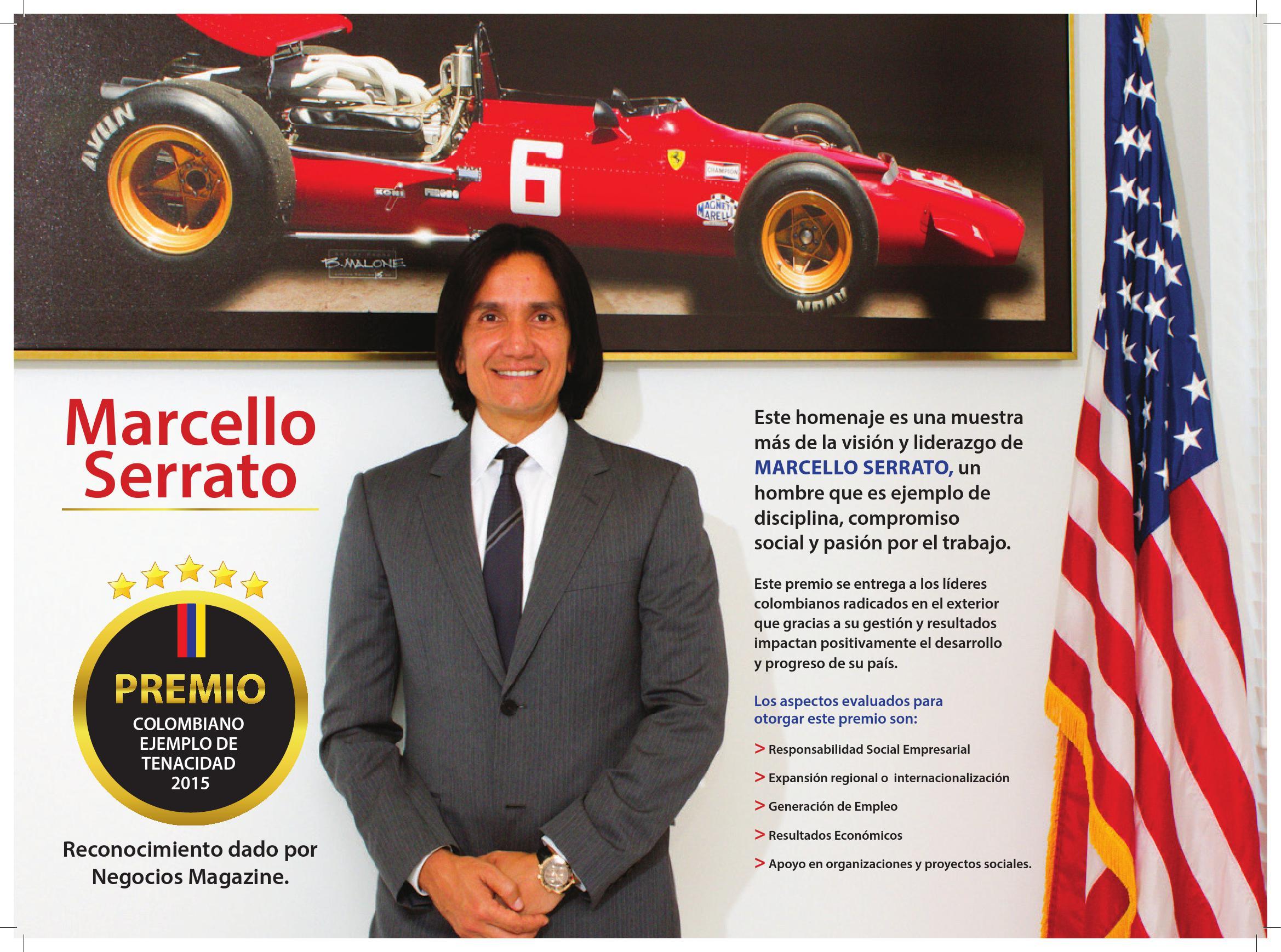 Marcello Serrato: Premio colombiano ejemplo de tenacidad 2015