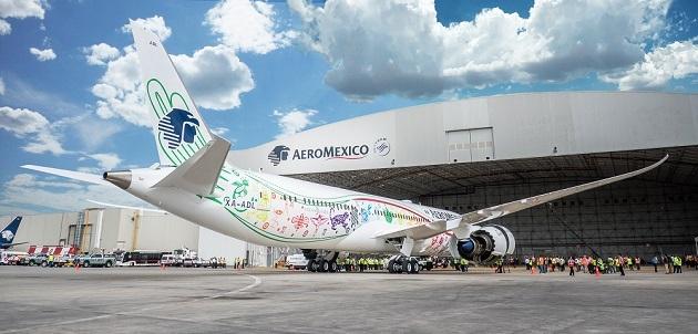 AEROMÉXICO PRESENTA SU PRIMER BOEING 787-9 DREAMLINER
