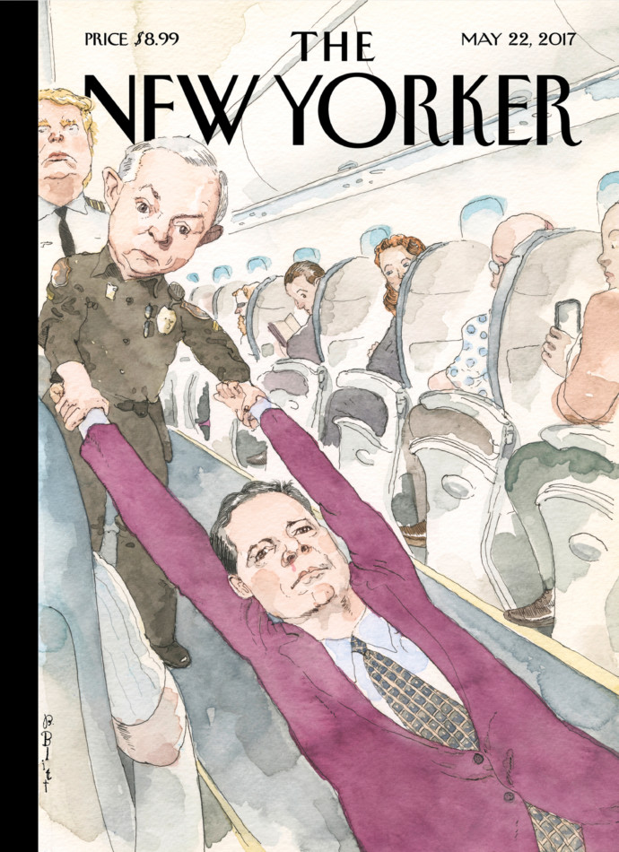 PORTADA DE NEW YORKER: COMEY ARRASTRADO POR EL FISCAL GENERAL
