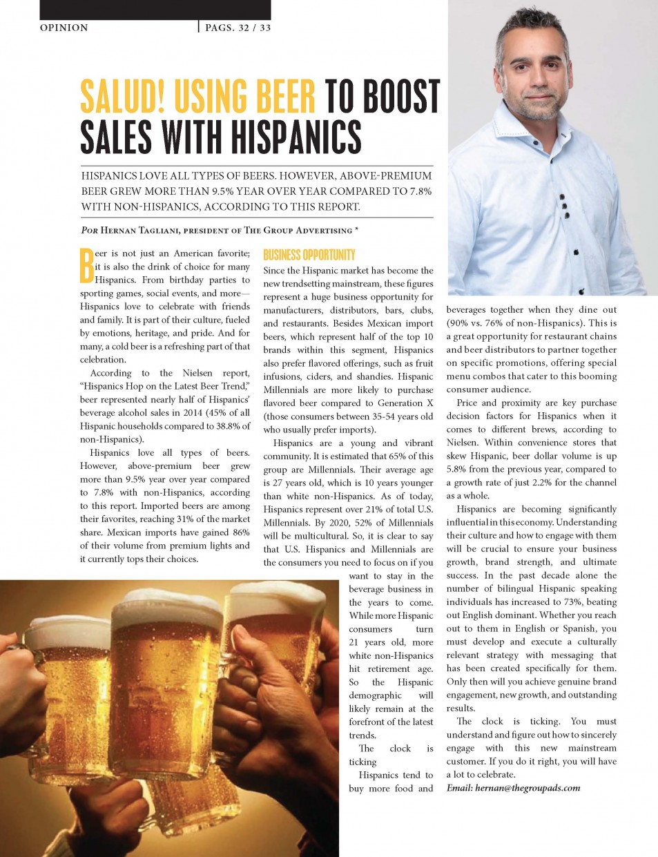 SALUD! USING BEER TO BOOST SALES WITH HISPANICS