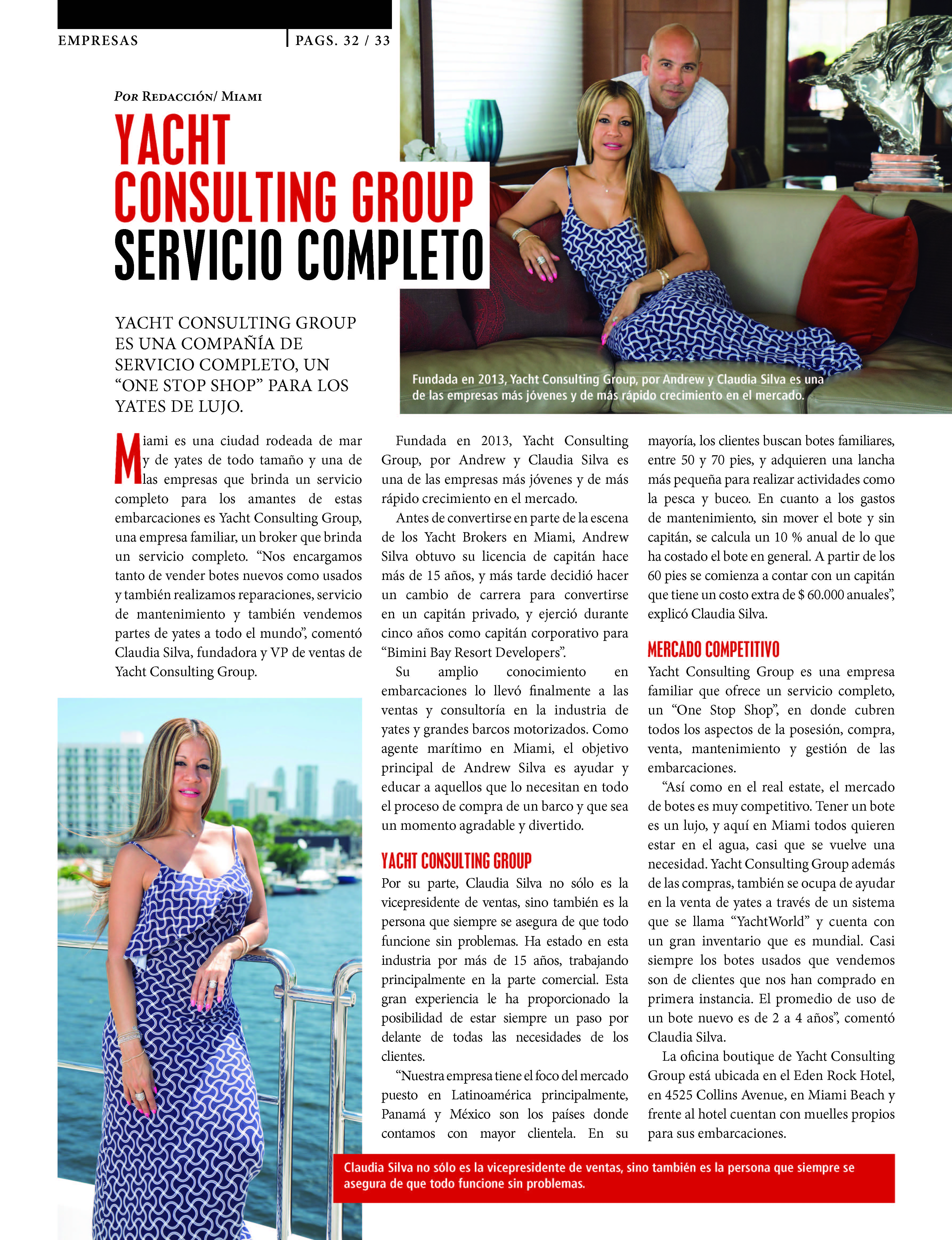 YACHT CONSULTING GROUP SERVICIO COMPLETO