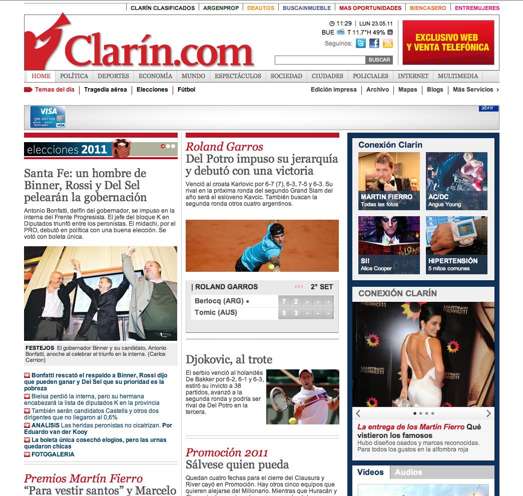 EL DIARIO CLARÍN COMIENZA COBRAR A SUS LECTORES ONLINE