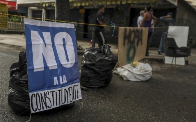 VENEZUELA SE SUME EN EL PARO A UNA SEMANA DE LAS ELECCIONES A LA ASAMBLEA NACIONAL CONSTITUYENTE