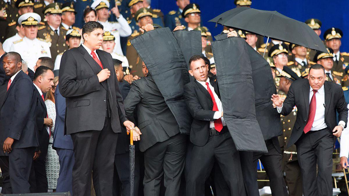 NICOLÁS MADURO SUFRE EL PRIMER INTENTO DE ASESINATO DE SU PRESIDENCIA