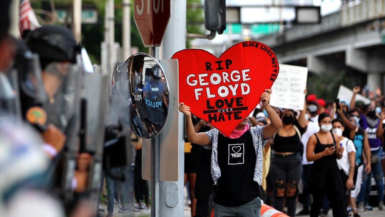 EN MIAMI HUBO 44 ARRESTADOS POR LAS PROTESTAS POR LA MUERTE DE GEORGE FLOYD. BROWARD EN ALERTA POR LAS MANIFESTACIONES